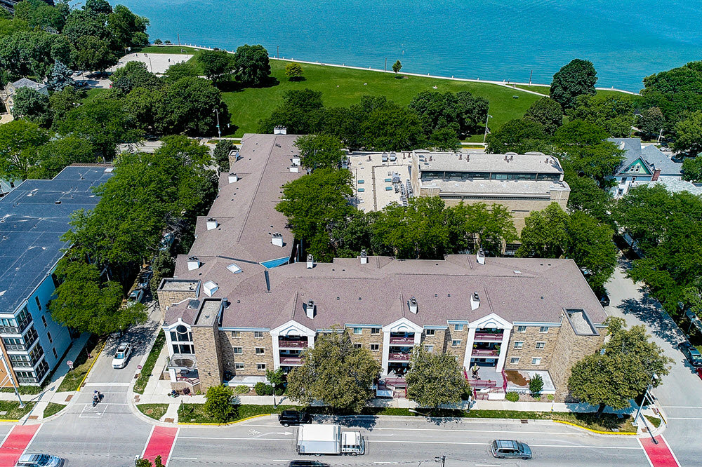 aerial photo of madison condo listing