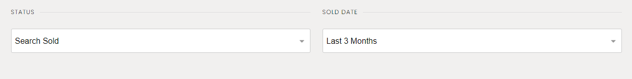 MLS Sold Listing Search