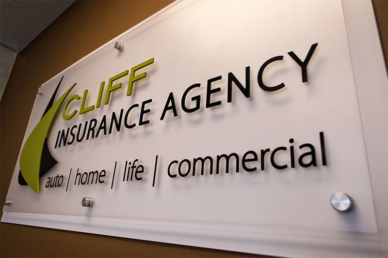 Cliff Insurance Sign