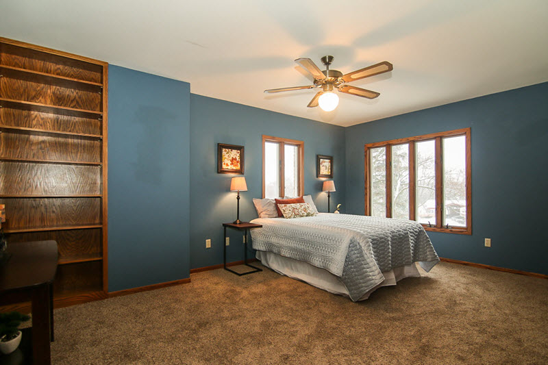 vacant bedroom professionally staged