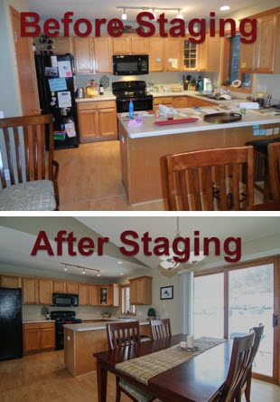 Staging an occupied home before and after photos for Staging before and after