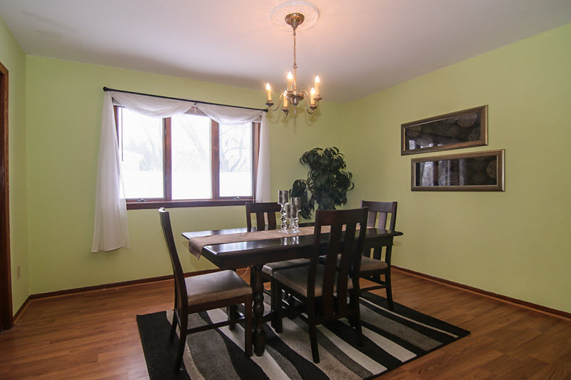 vacant dining room professionally staged