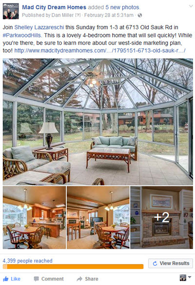 Real Estate Listing Ads with Facebook