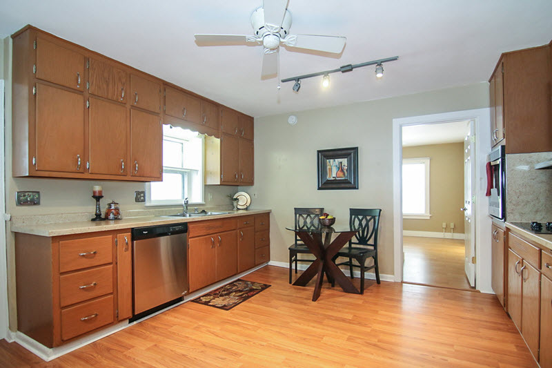 vacant kitchen professionally staged
