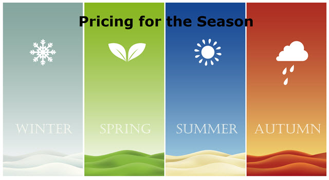 pricing a home by time of year