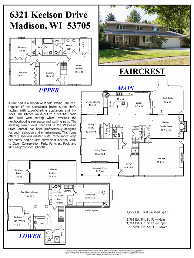 real estate listing layout