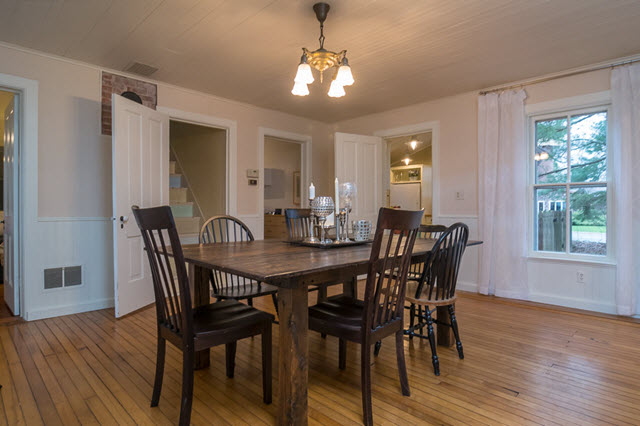 photo of vacant staged dining room
