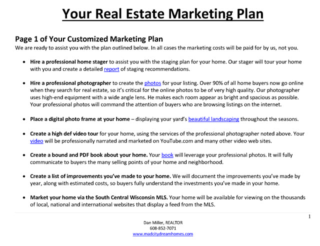 marketing proposal for real estate