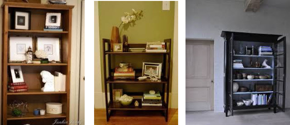 book cases for staging