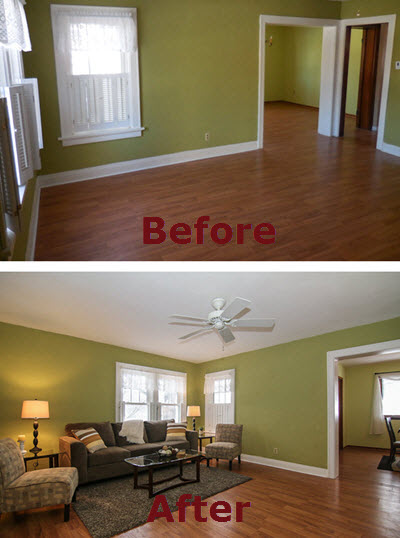Professional Staging Before and After