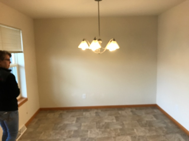 vacant dinette before professional home staging